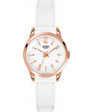 Henry London HL25-S-0110 Ladies Pimlico White Leather Strap Watch
