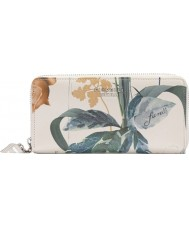 Fiorelli FS0866-PRINT Ladies City White Botanical Print Zip Around Purse