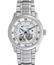 Bulova 96A118 Mens Automatic Silver Steel Watch