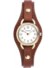 Coach 14502031 Ladies Dree Brown Leather Strap Watch