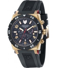 Swiss Eagle SE-9076-04 Men Svitzer Black Custom Moulded Silicon Band Chronograph Watch