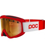 POC PC400421104SML1 Iris Stripes Bohrium Red Pink Gold Mirror Ski Goggles