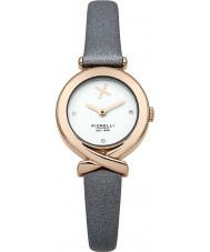 Fiorelli FO009ERG Ladies Rose Gold Plated Grey Leather Strap Watch
