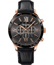 Thomas Sabo WA0186-213-203-43mm Mens Urban Black Leather Chronograph Watch