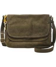 Fossil ZB6922386 Ladies Peyton Green Large Double Flap Bag