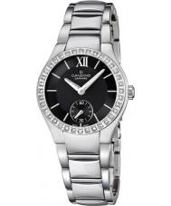Candino C4537-2 Ladies Black and Silver Steel Bracelet Watch