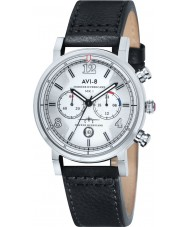 AVI-8 AV-4015-01 Mens Hawker Hurricane Black Leather Strap Chronograph Watch
