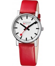 Mondaine A660-30344-11SBC Evo Red Leather Strap Watch