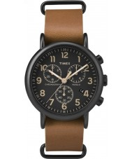 Timex TW2P97500 Weekender Tan Leather Chronograph Watch