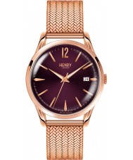 Henry London HL39-M-0078 Ladies Hampstead Purple Rose Gold Watch