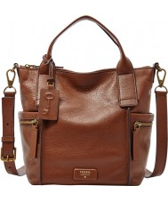 Fossil ZB6696200 Ladies Emerson Brown Medium Satchel