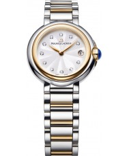 Maurice Lacroix FA1003-PVP13-150-1 Ladies Fiaba Round Two Tone Watch with Diamonds