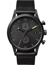 Triwa LCST105-CS010113 Sort of Black Leather Strap Chrono Watch