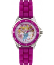 Disney Princess PN1078 Girls Princess Time Teacher Watch with Pink Silicone Strap