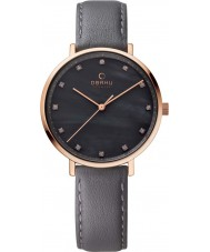 Obaku V186LXVJRJ Ladies Grey Calf Leather Strap Watch