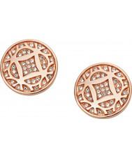 Fossil JF01434791 Ladies Vintage Iconic Rose Gold Steel Stud Earrings