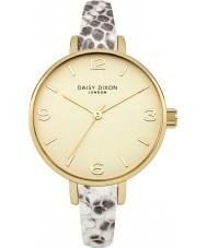 Daisy Dixon DD030EG Ladies Sophia Metallic Snake Leather Strap Watch
