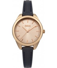 Oasis B1547 Ladies Navy Leather Strap Watch