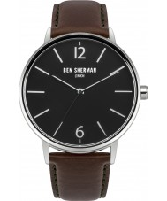 Ben Sherman WB059BRN Mens Portobello Brown Leather Watch with Interchangeable Strap