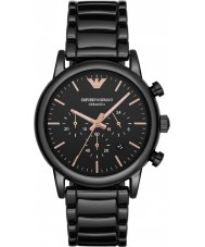 Emporio Armani AR1509 Mens Dress Black Chronograph Watch