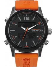 Superdry SYG206O Mens Tokyo Anadigi Orange Silicone Strap Watch
