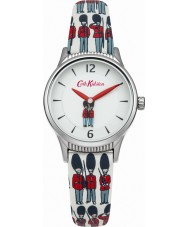 Cath Kidston CKL011ES Ladies Guards Rotating Multicolour Printed PU Leather Watch