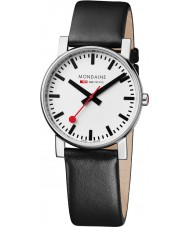 Mondaine A660-30344-11SBB Evo Black Leather Strap Watch