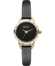 Barbour BB009BKBK Ladies Lismore Black Leather Strap Watch