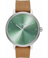Nixon A108-2217 Ladies Kensington Leather Saddle Sage Watch