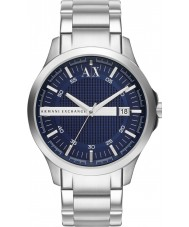 Armani Exchange AX2132 Mens Blue Silver Bracelet Dress Watch