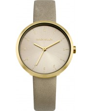 Karen Millen KM135EG Ladies Grey Leather Strap Watch