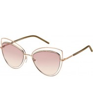 Marc Jacobs Ladies MARC 8-S TXA 05 Gold Brown Sunglasses