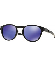 Oakley OO9265-06 Latch Matte Black - Violet Iridium Sunglasses