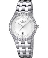 Candino C4544-1 Ladies White and Silver Steel Bracelet Watch