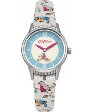Cath Kidston CKL011US Ladies Little Birds Rotating White PU Leather Strap Watch