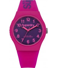Superdry SYG164PV Ladies Urban Pink Silicone Strap Watch