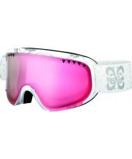 Bolle 21385 Scarlett Shiny White Night - Vermillon Gun Ski Goggles
