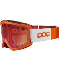 POC PC400421203SML1 Iris Stripes Corp Orange Persimmon Red Mirror Ski Goggles