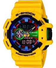 Casio GA-400-9AER Mens G-Shock World Time Yellow Resin Strap Combi Watch