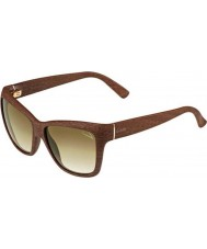 Gucci Ladies GG 3655-S 9RT HM Brown Wood Sunglasses