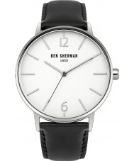 Ben Sherman WB059BU Mens Portobello Black Leather Watch with Interchangeable Strap