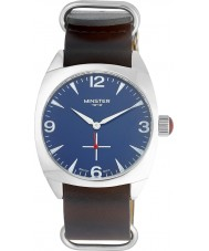 Minster 1949 MN04BLSL10 Mens Burlingham Black Leather Strap Watch