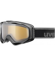 Uvex 5502142221 G.GL 300 Take Off Black - Polavision Brown Ski Goggles