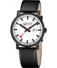 Mondaine A627-30303-61SBB Evo Big Black Leather Strap Watch