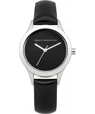 French Connection FC1206B Ladies All Black Leather Strap Watch