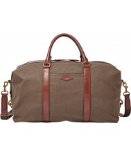Fossil MBG9284200 Mens Campbell Brown Duffle Bag