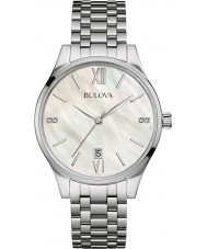 Bulova 96S161 Ladies Diamond Gallery Silver Steel Bracelet Watch