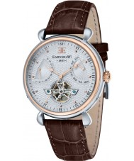 Thomas Earnshaw ES-8046-04 Mens Grand Calender Brown Leather Strap Watch