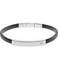 Emporio Armani EGS2063040 Mens Signature Black Carbon Steel Bracelet