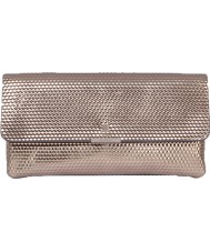 Modalu MH5114-GREY Ladies Anna Pewter Cube Leather Snap Clutch
